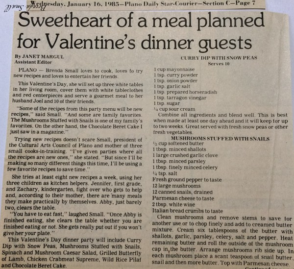 Here is the way the recipe appeared in the Plano Star Courier.