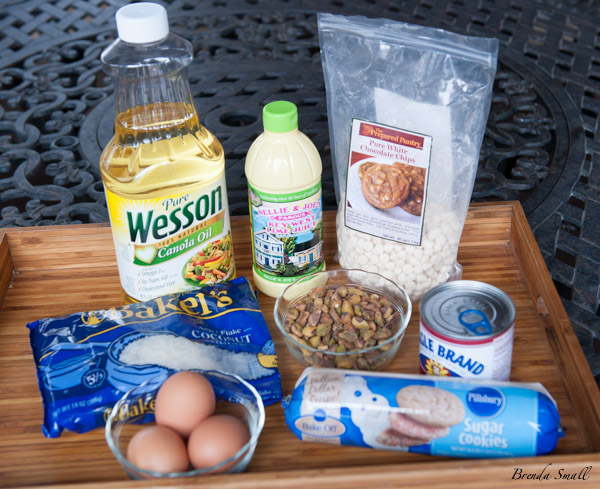 These are the ingredients you will need for the White Chocolate-Key Lime Bars.