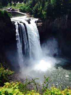 This is my friend Donna's picture of the beautiful Snoqualmie Falls.