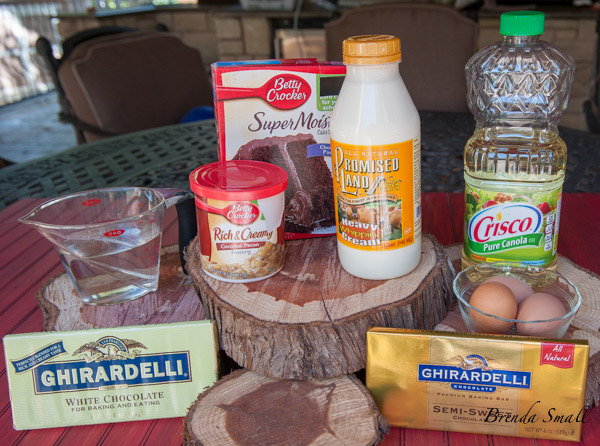 These are the ingredients if you want to ice the cake.