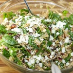 MEDITERRANEAN ORZO AND BABY SPINACH SALAD