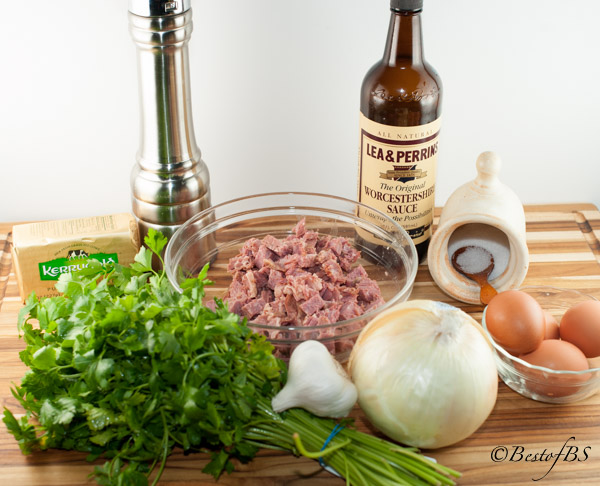 These are the fresh ingredients you will need for the Corned Beef Hash.