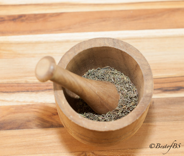 I like to use a mortar and pestle to coarsely grind the spices to release the oils for more flavor.